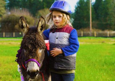 Sad donkey learned to be a HERO